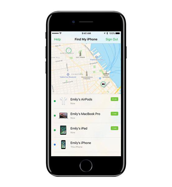iOS 10.3系统支持查找Airpods
