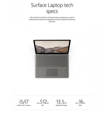 Surface Laptop参数