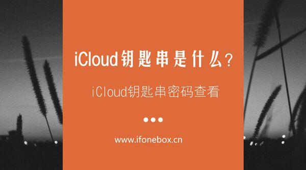 iCloud钥匙串