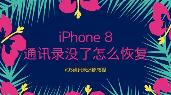iPhone 8通讯录没了怎么恢复