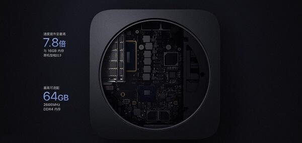Mac mini新功能:深空灰配色、高性能内存、六核处理器