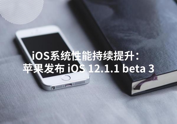 iOS系统性能持续提升:苹果发布 iOS 12.1.1 beta 3